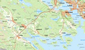 Karta över Måtsund