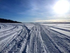 Skiterspår isen