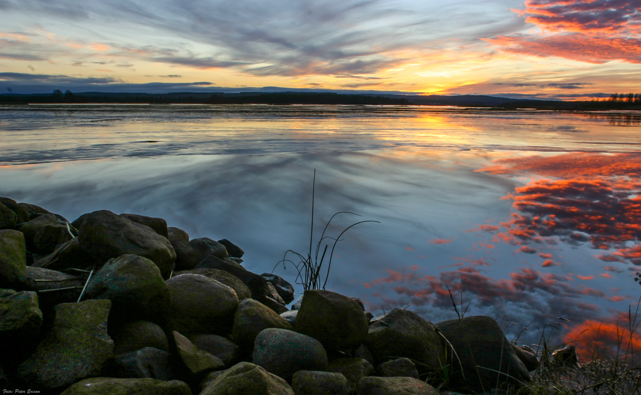 Solnedgång Måttsundsfjärden